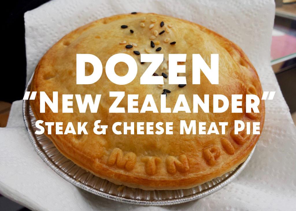 Dozen New Zealander (Steak & Cheese) Meat Pies