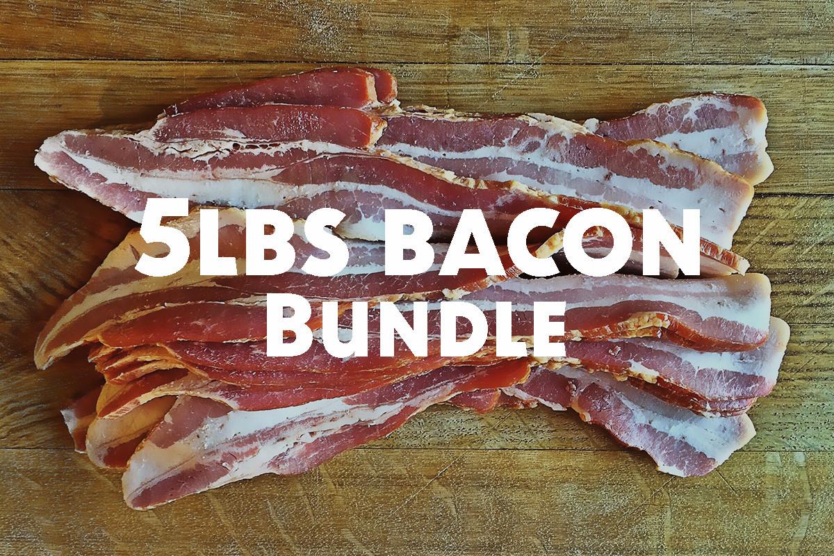 5lbs Bundle - Hickory Smoked Uncured Bacon