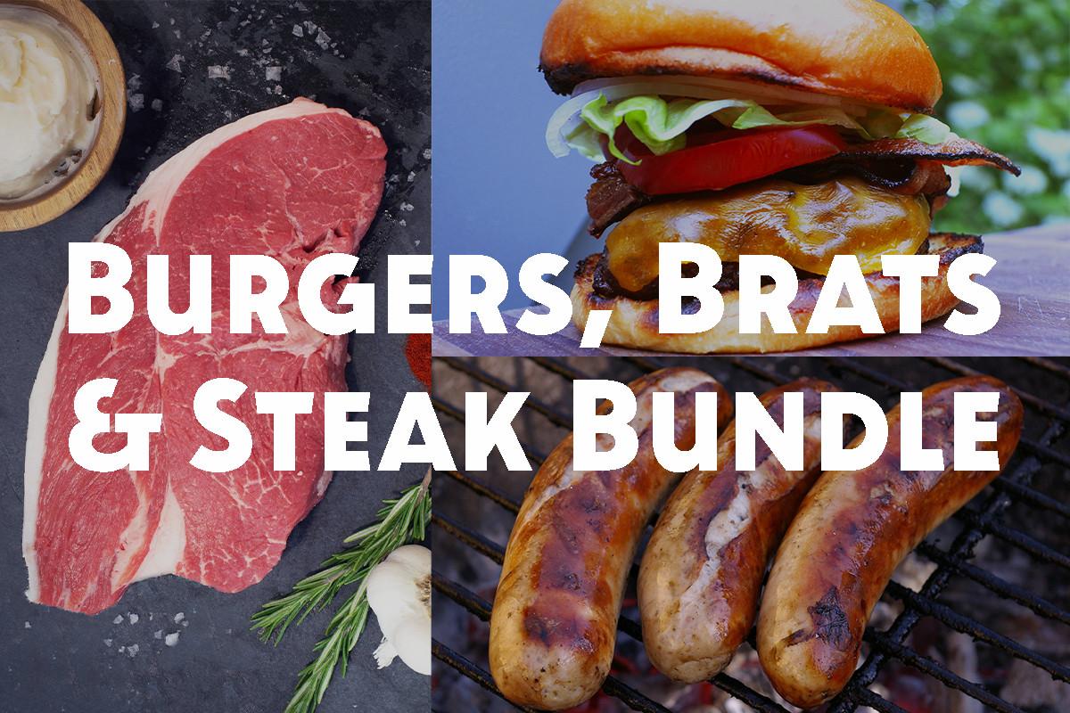 Burgers, Brats and Steak Bundle