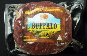 Ground Buffalo 1/3lb Patties (5lb Case)