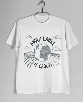 SMALL Know Where It Grows T-Shirt (White)