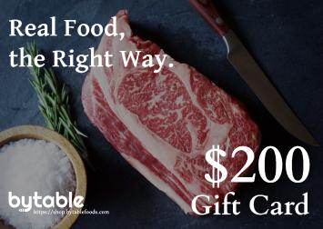 $200 Bytable Digital Gift Card