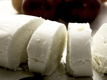 Fresh Chevre Goat Cheese Log, Hand Ladled