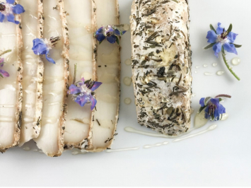 PRESALE: Julianna 1/2lb - Herb Rind, Semi-Firm Aged Goat Cheese