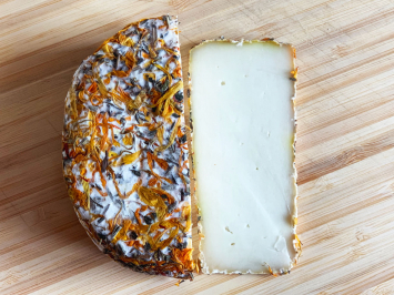 Julianna 1/2lb - Herb Rind, Semi-Firm Aged Goat Cheese