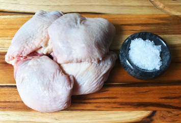 Pastured Chicken Thighs, Boneless Skin-On