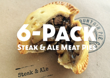 Half Dozen Steak and Ale Meat Pies