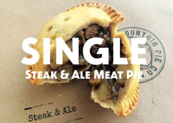 Single Steak and Ale Meat Pie