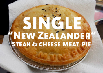 Single New Zealander (Steak & Cheese) Meat Pie