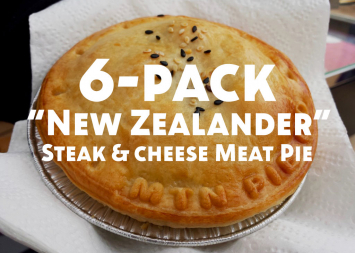 Half Dozen New Zealander (Steak & Cheese) Meat Pies