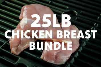 Skinless Boneless Chicken Breast Bundle (25 lbs)