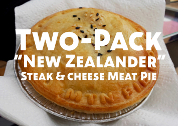 Two-Pack New Zealander (Steak and Cheese) Meat Pie