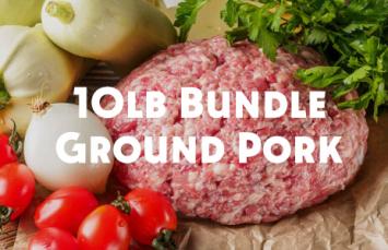 10lb Bundle - Fresh Ground Pork