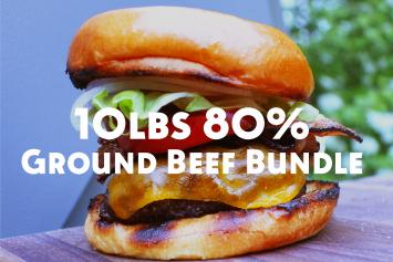 10lb Bundle - 80% Lean Ground Beef
