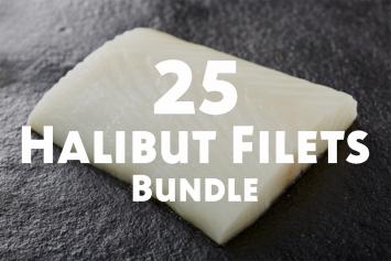 25 Halibut Filets Bundle