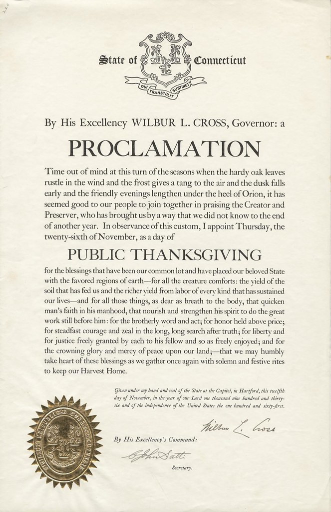 Thanksgiving Proclamations, Ranked