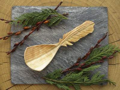 Feather Serving Spoon