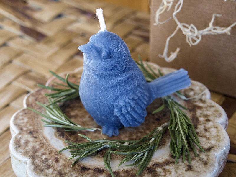 Blue Bird Candle