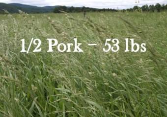 1/2 Pork - 53 lbs