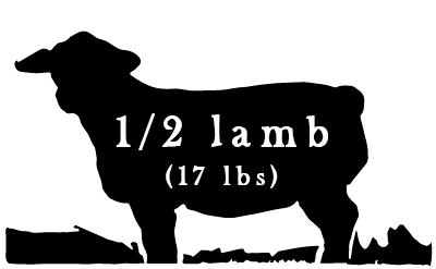 1/2 Lamb - 17 lbs