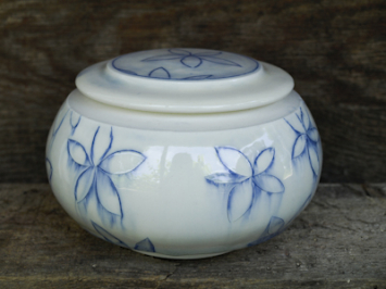 Blue Flower Jar