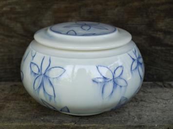 Blue Flower Jar