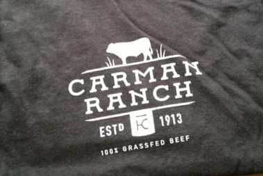 Carman Ranch Logo Tee, Men's Extra Large