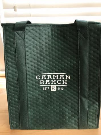 Insulated Carman Ranch logo bag