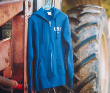 C&F Farms Zip-Up Hoodie - Ladie's Cut