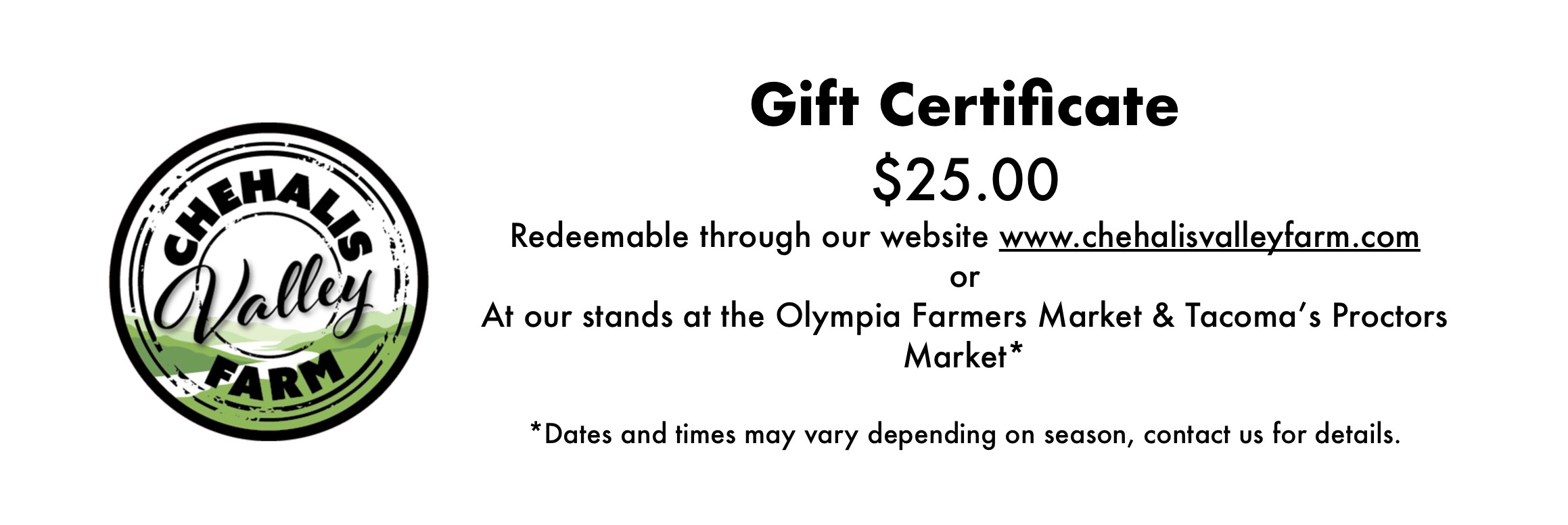 """""""The gift of fresh, local, sustainably raised meat!"""""""