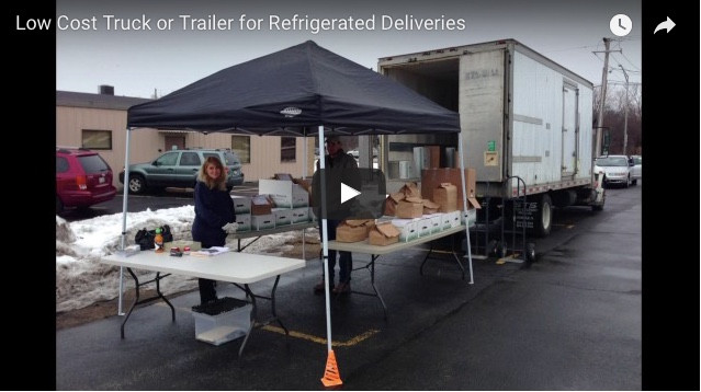 Low Cost Truck or Trailer for Refrigerated Deliveries