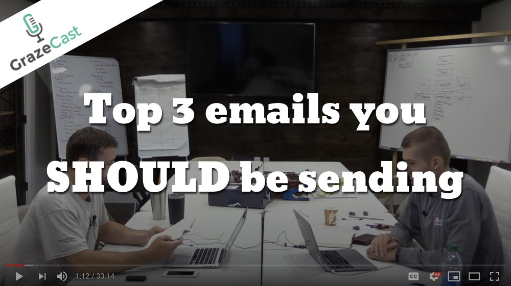 The Top Three Emails You Should be Sending