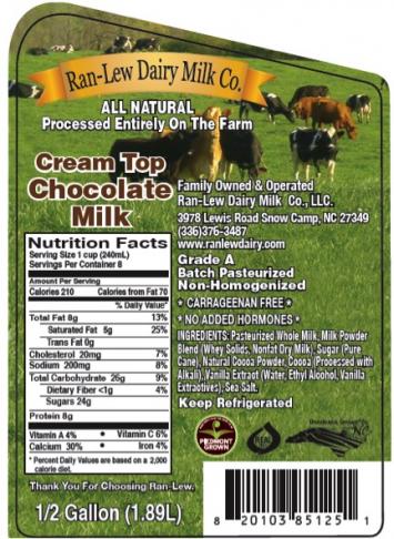 Chocolate Milk (Half Gallon)