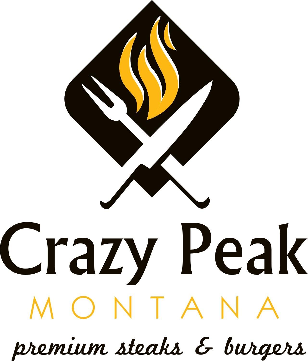Crazy Peak Montana Beef Logo