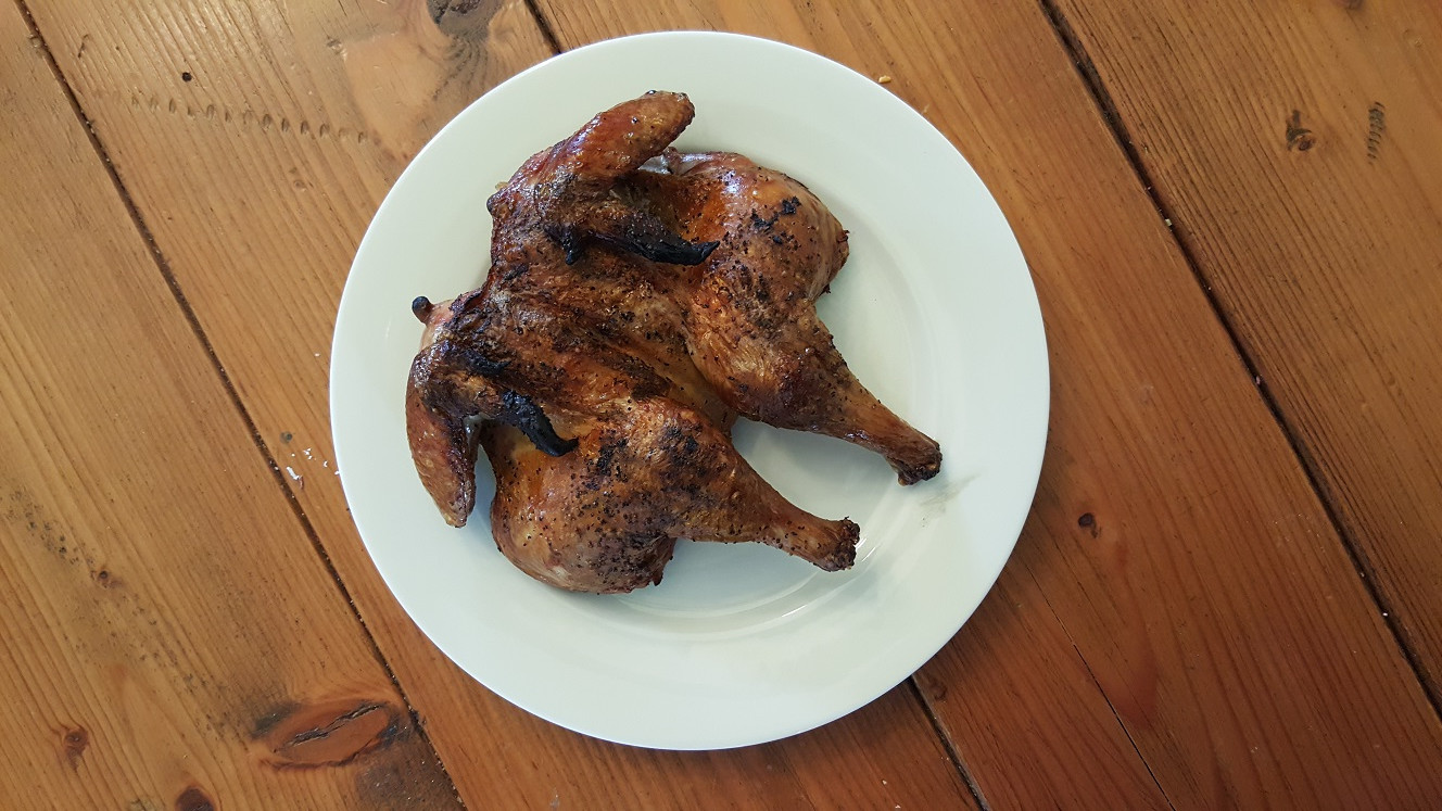 A Simple Way to Grill a Whole Chicken