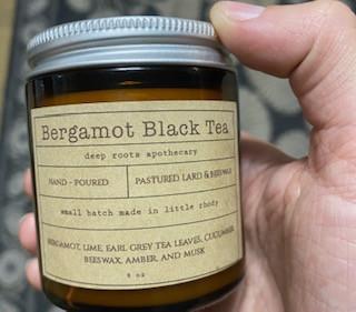 Bergamot Black Tea 4oz Candle