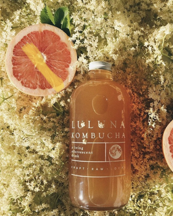Luluna Kombucha Elderflower Grapefruit