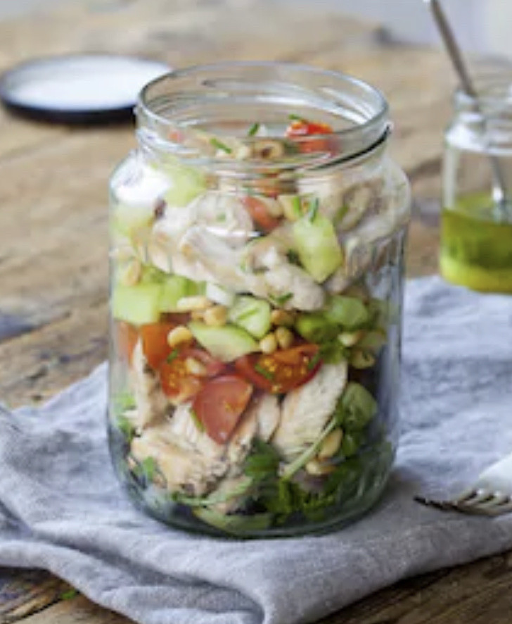 Grilled Chicken Salad Jar