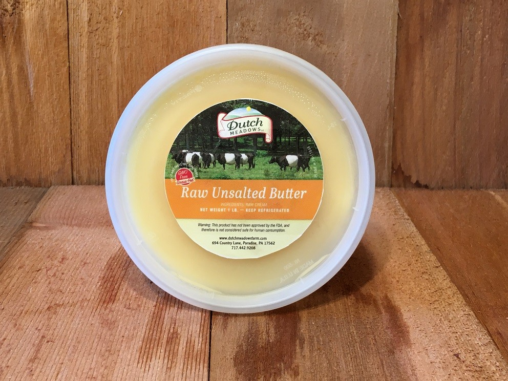 1 lb. Raw Unsalted Butter