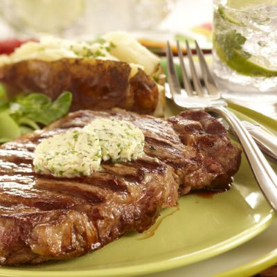 Delmonico Steak In Herb Butter