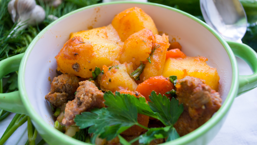 Slow Cooker Moroccan Lamb Casserole