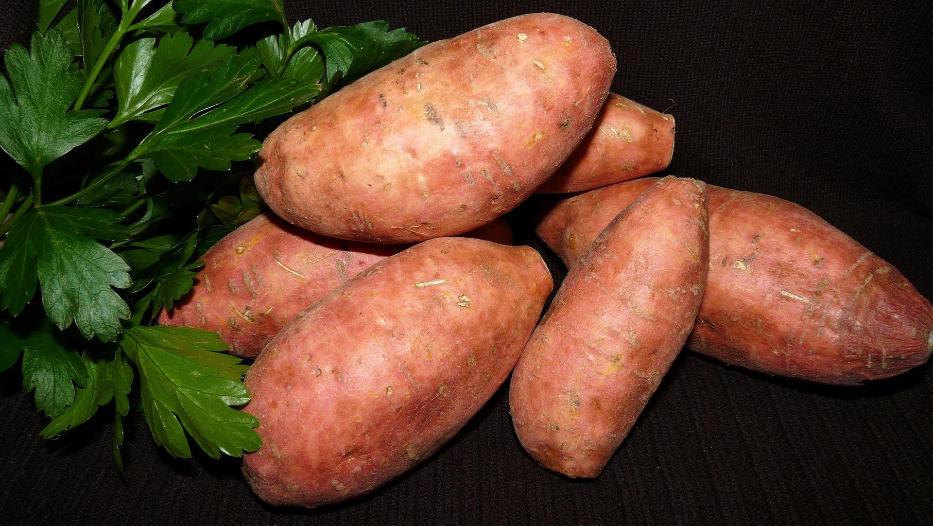 Shingled Sweet Potatoes