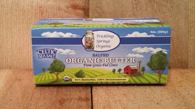 8 oz. Organic Salted Butter