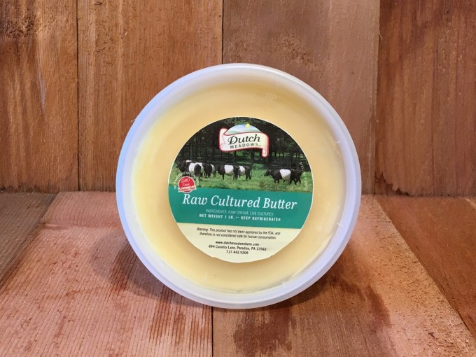 1 lb Raw Cultured Butter