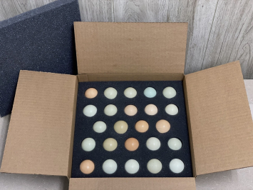 2 Dozen - Ship Ready Aurocana Eggs (CORN & SOY FREE)