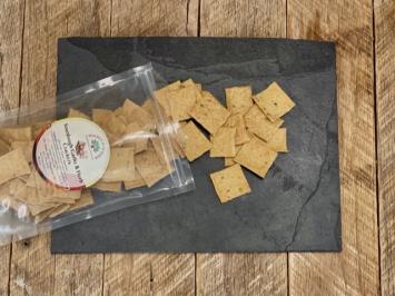 Sourdough Garlic & Herb Crackers