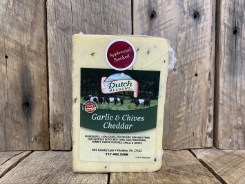 1 lb. Smoked Garlic-n-Chives Cheddar Cheese