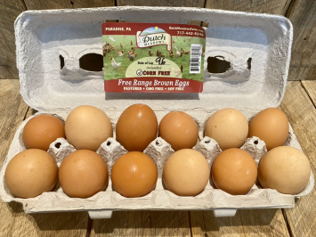 Large Brown Eggs (CORN & SOY FREE)