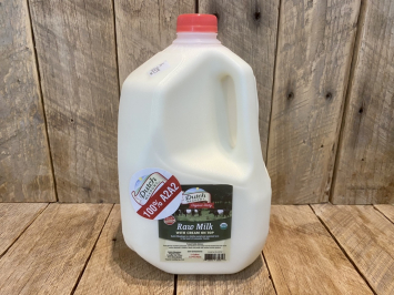 1 GALLON Organic Raw Milk (A2A2)
