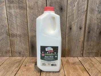 1/2 gallon Organic Raw Milk